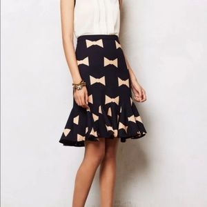 Eva Franco- Anthropologie Bow Skirt